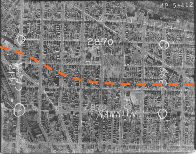 Historical aerial photos of the neighborhood